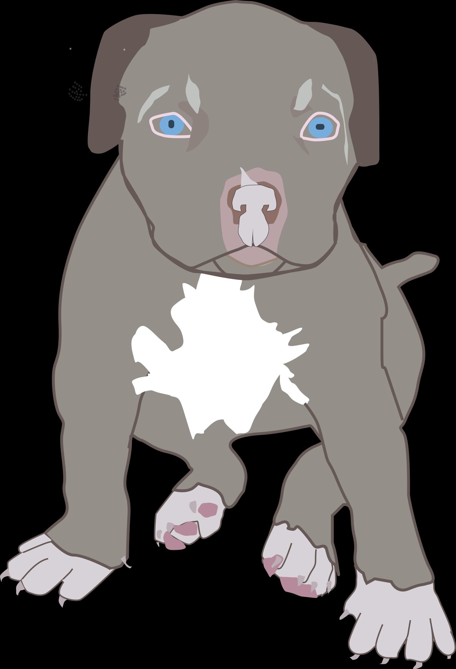Brown Bull Terrier SVG Clip arts