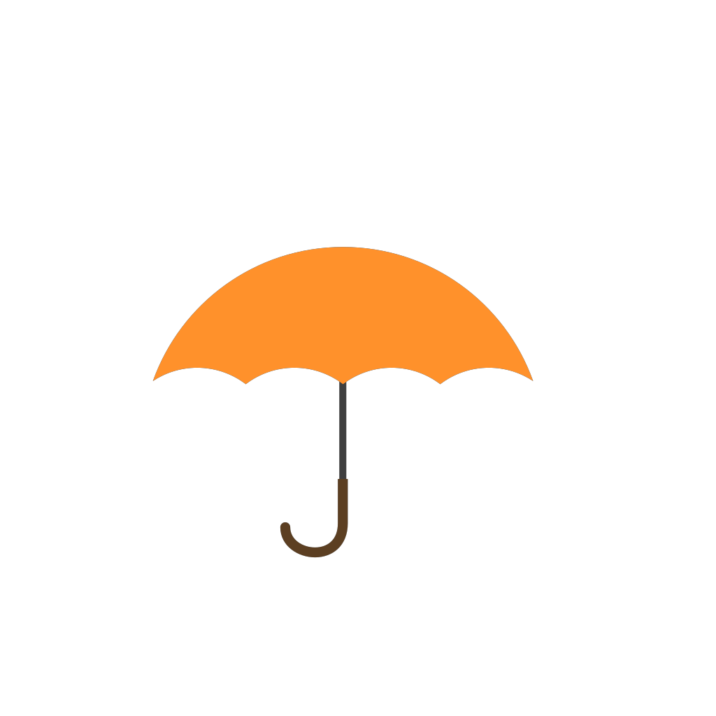 Orange Umbrella SVG Clip arts