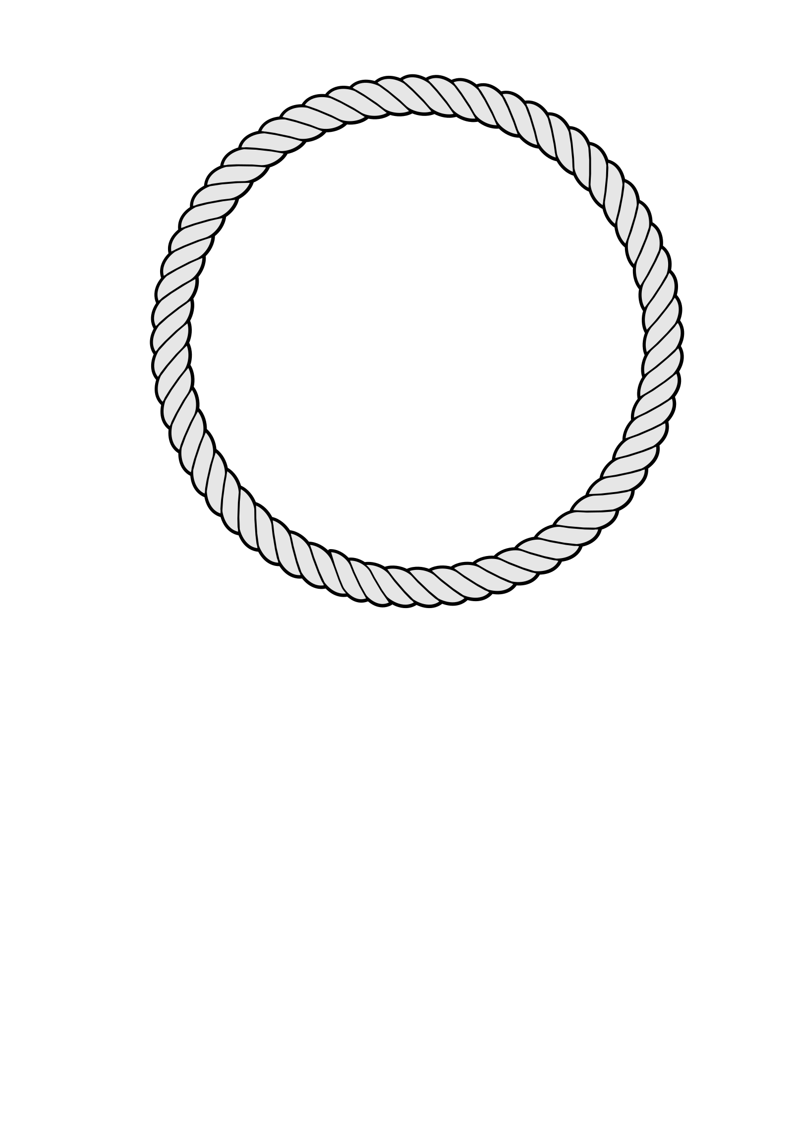 Rope Ring 2 SVG Clip arts