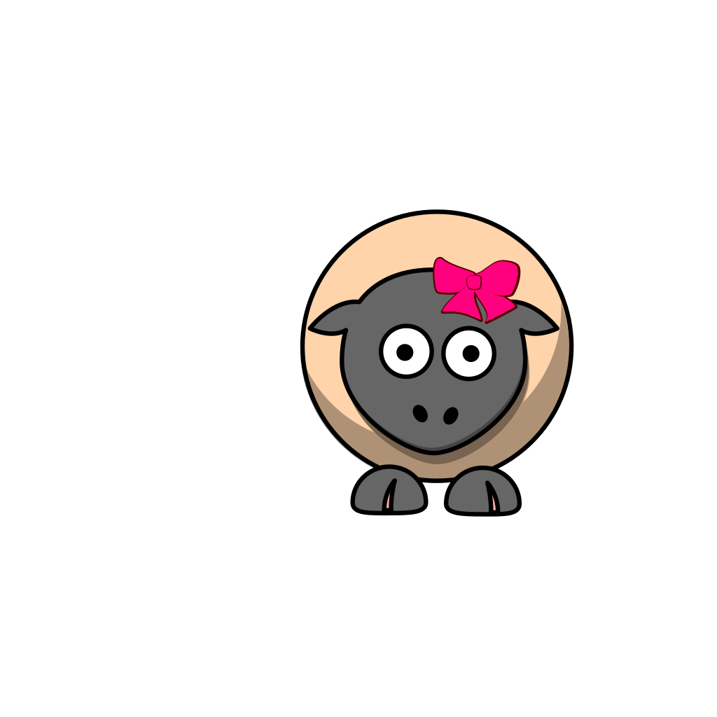 Sheep Cartoon SVG Clip arts