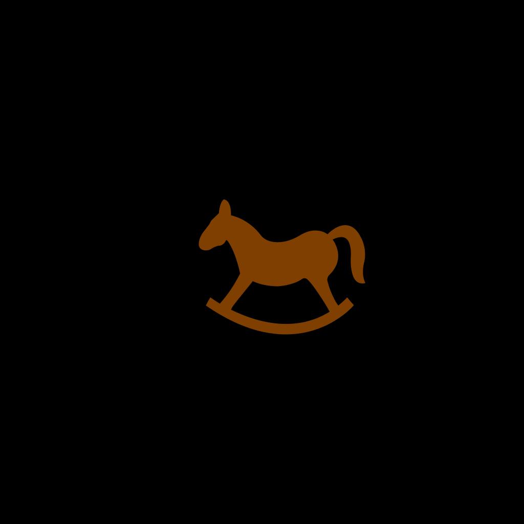 Brown Rocking Horse SVG Clip arts
