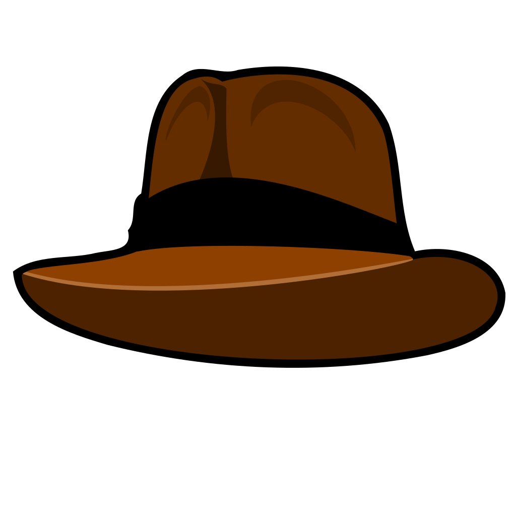 Adventurer Hat SVG Clip arts