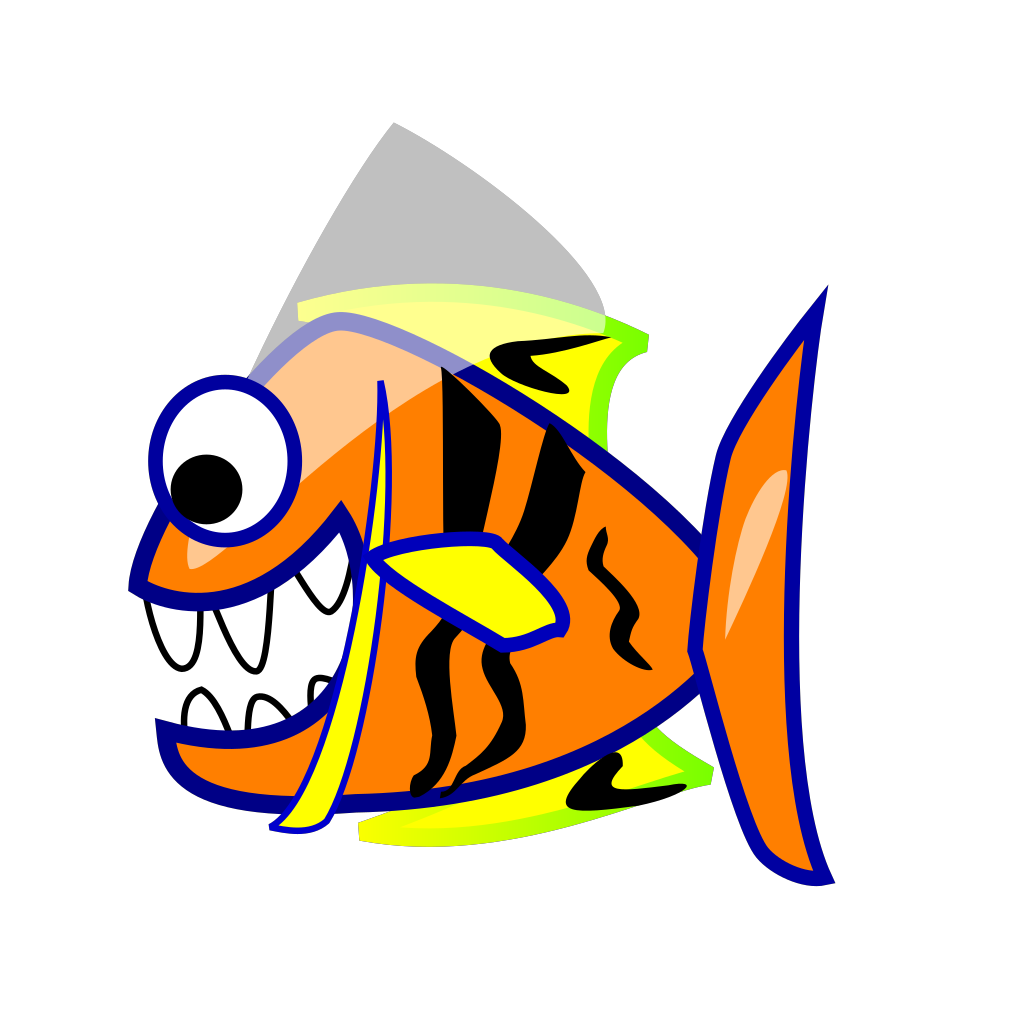 Orange Fish SVG Clip arts