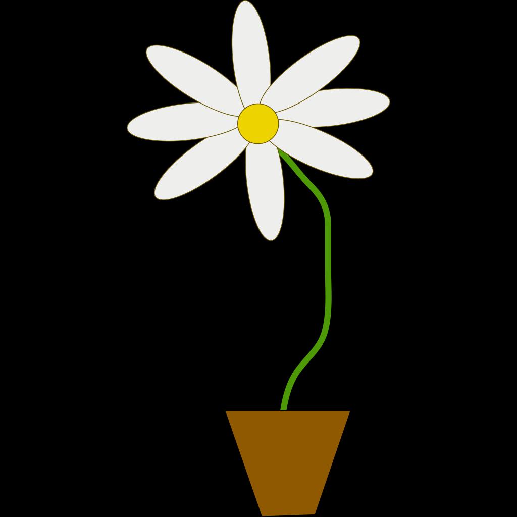 Flower In A Pot SVG Clip arts