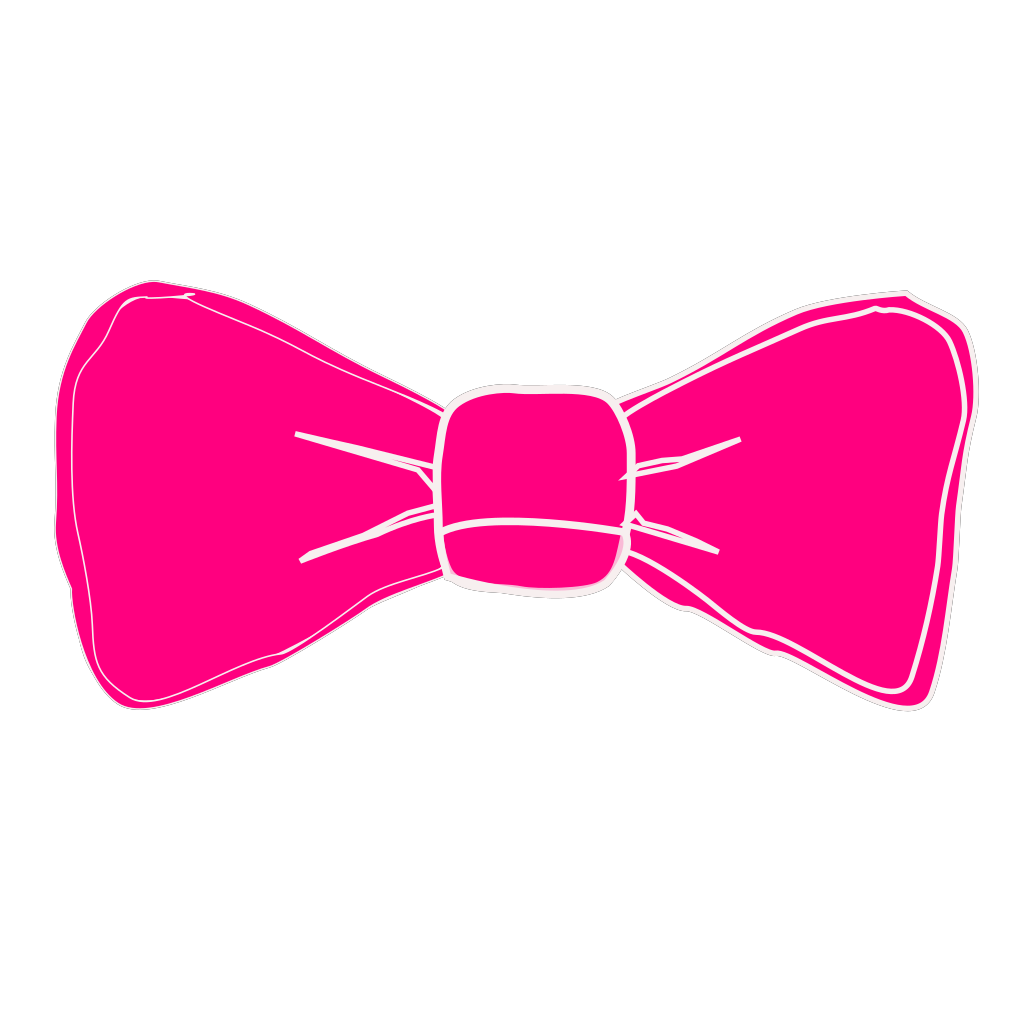 Pink Bow 2 SVG Clip arts