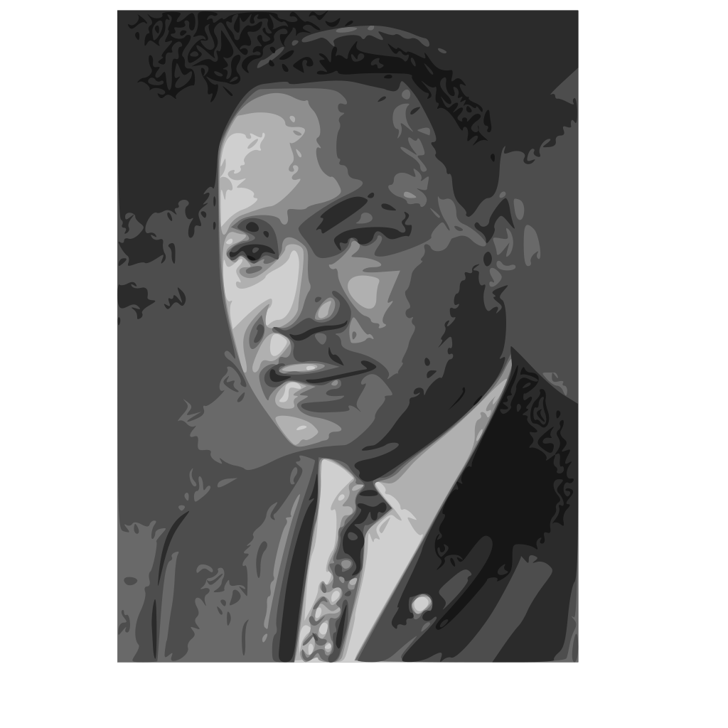 Martin Luther King Jr. SVG Clip arts