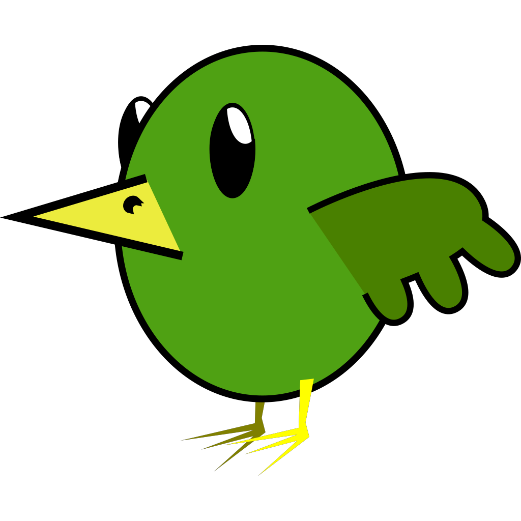 Bird Cartoon SVG Clip arts