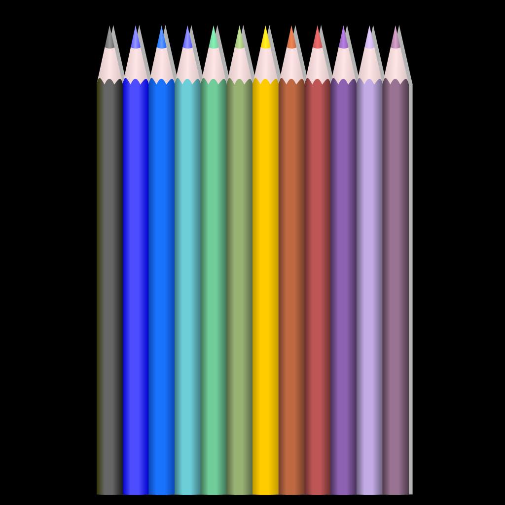 Colored Pencils SVG Clip arts