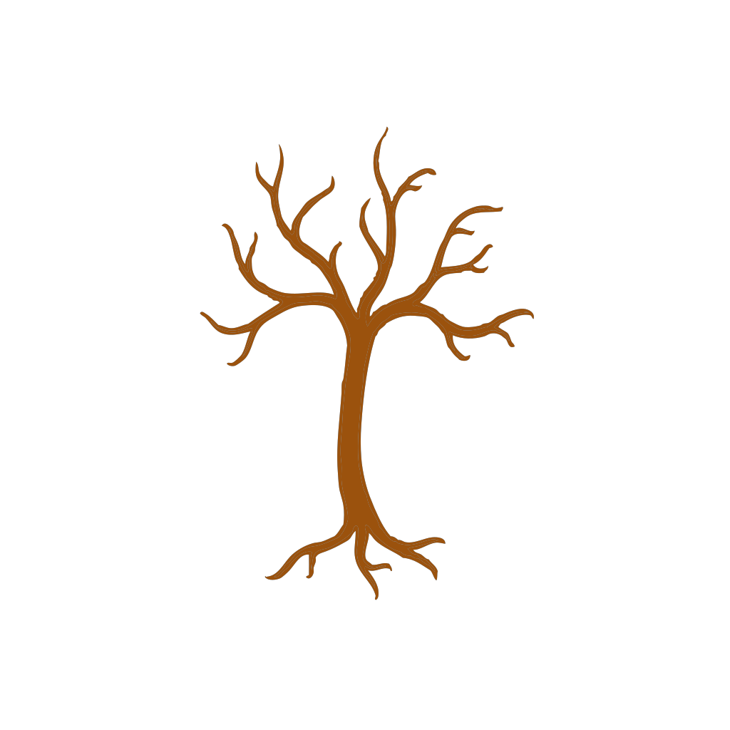 Brown Tree Outline SVG Clip arts