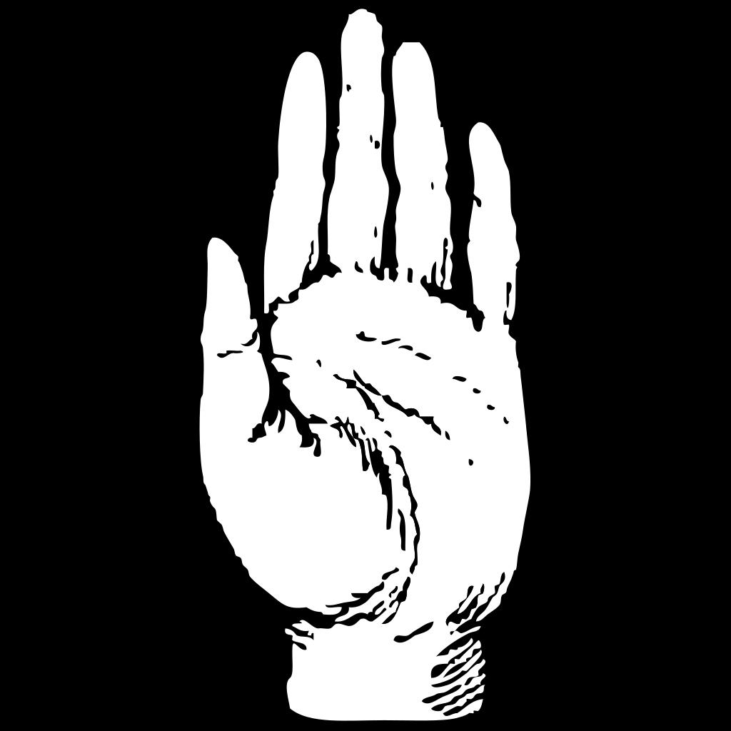 Left Hand Print SVG Clip arts