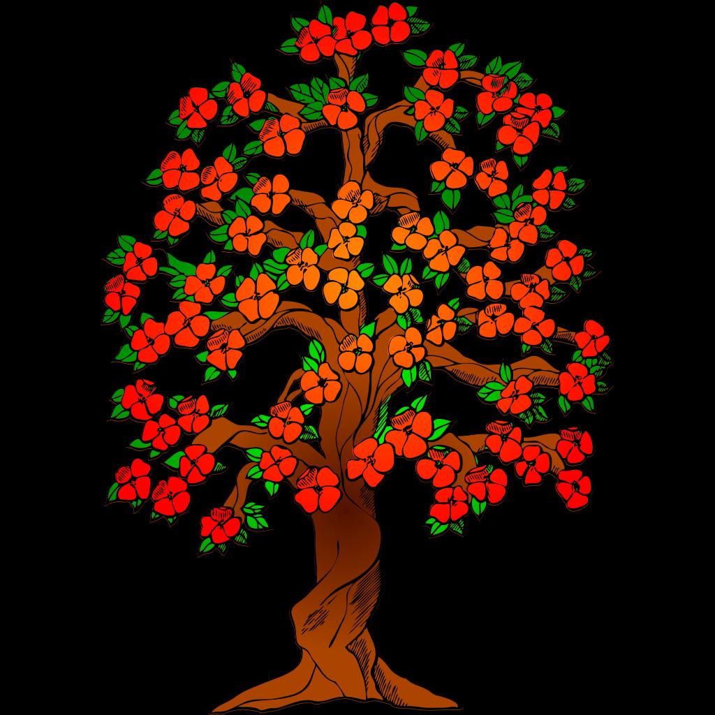Flowered Tree SVG Clip arts