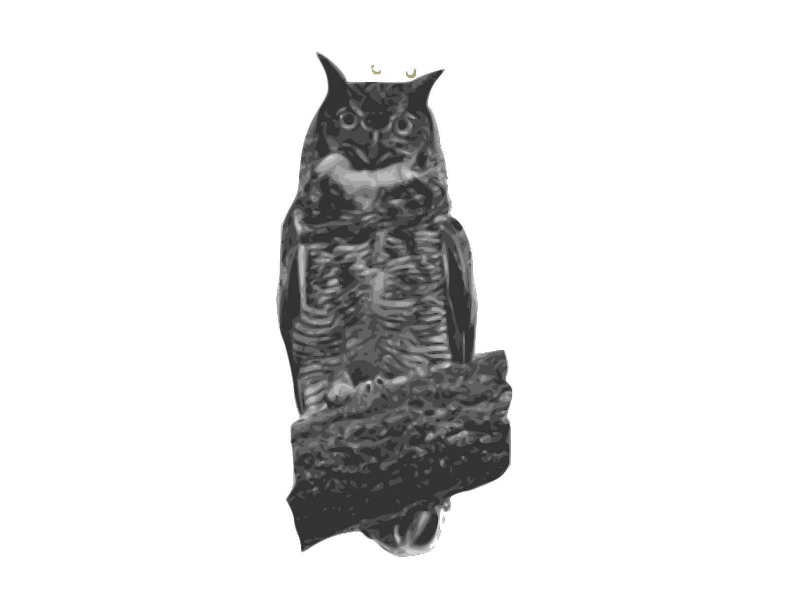 Cute Blue Owl 2 SVG Clip arts