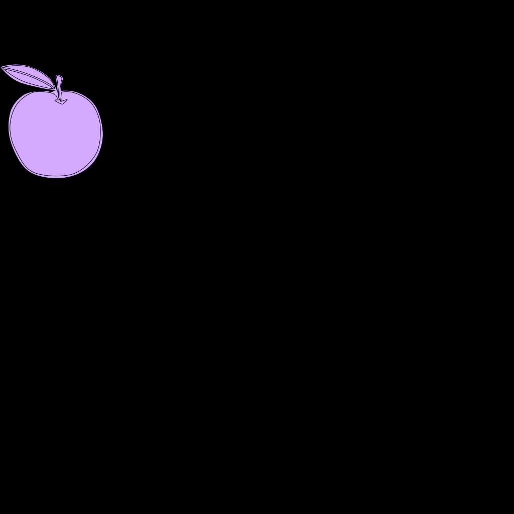 Apple Line Art SVG Clip arts