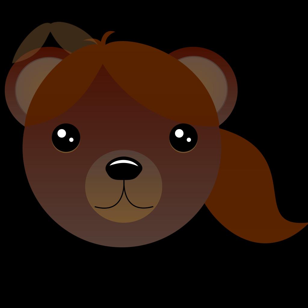 Brown Female Bear SVG Clip arts