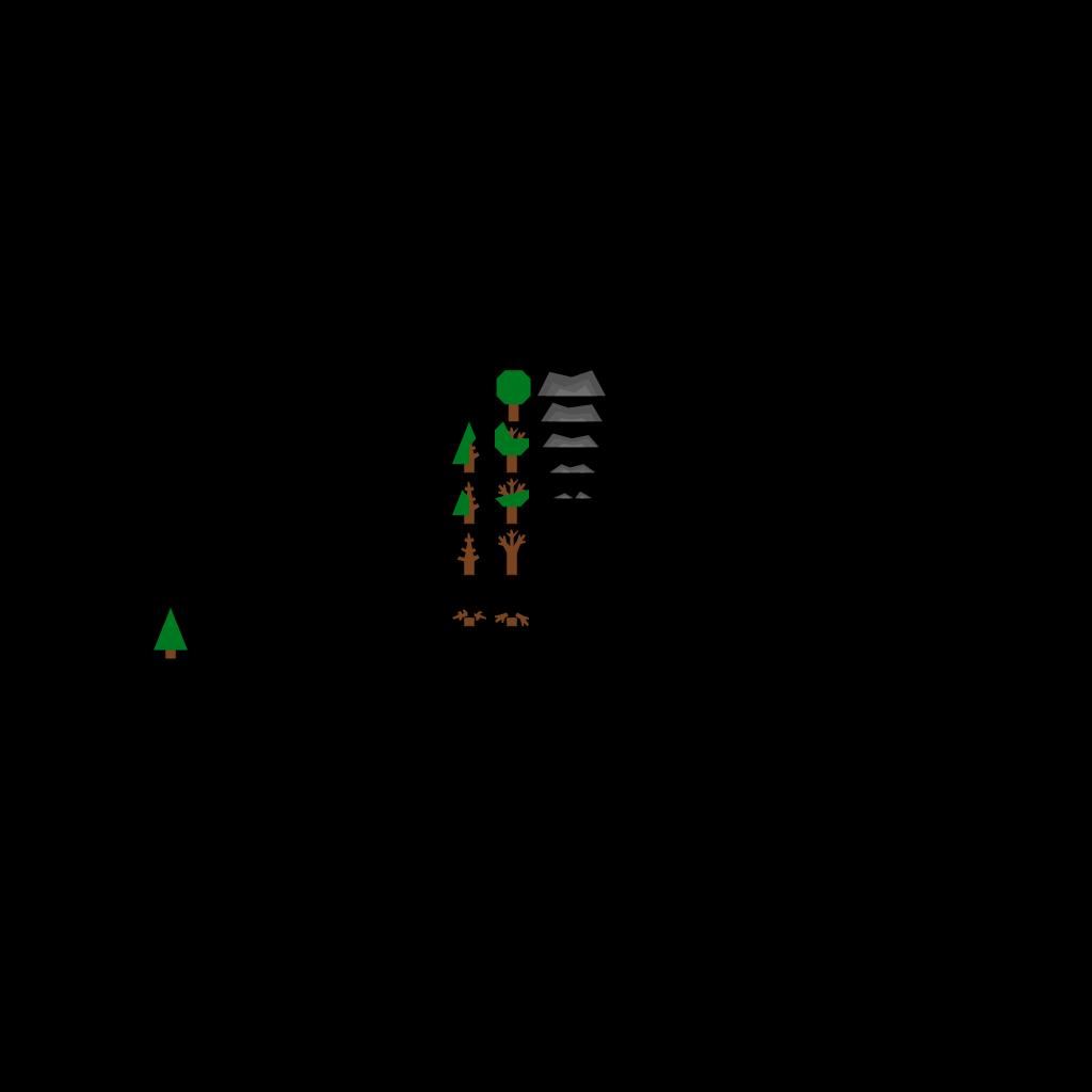 4 Layer Fir Tree SVG Clip arts