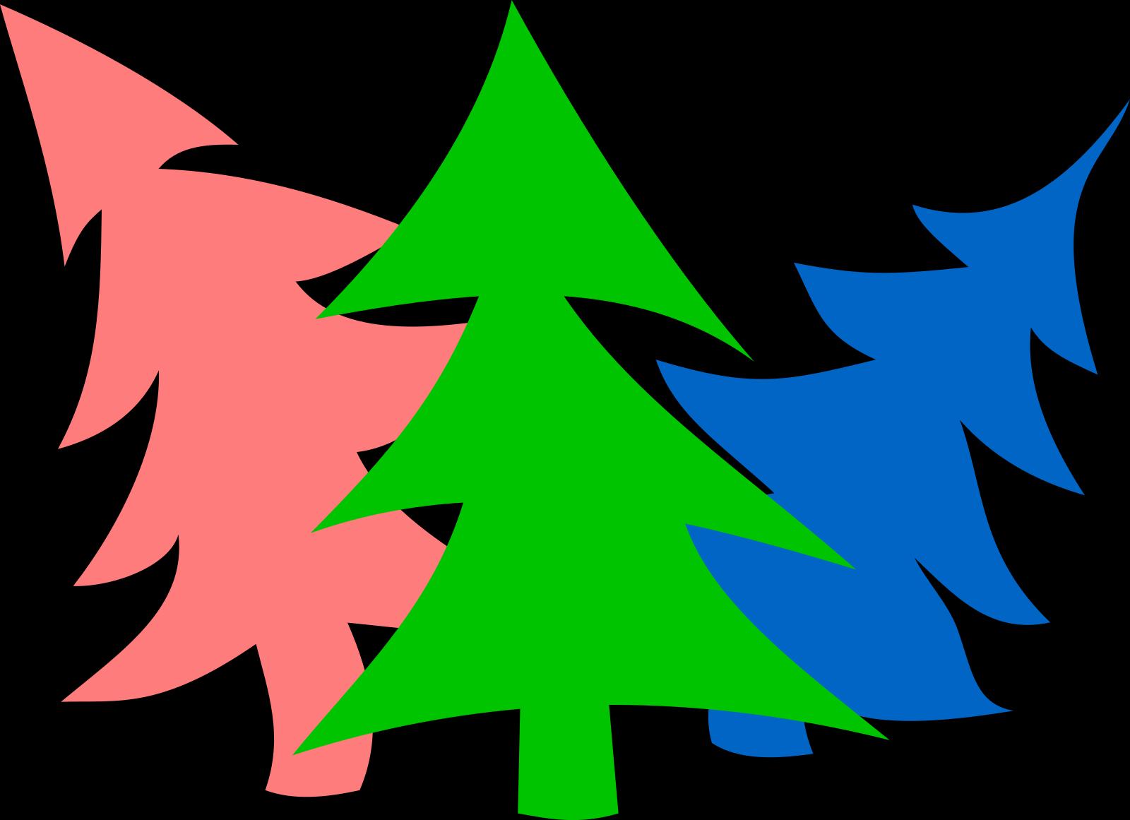 3 Layer Fir Tree SVG Clip arts