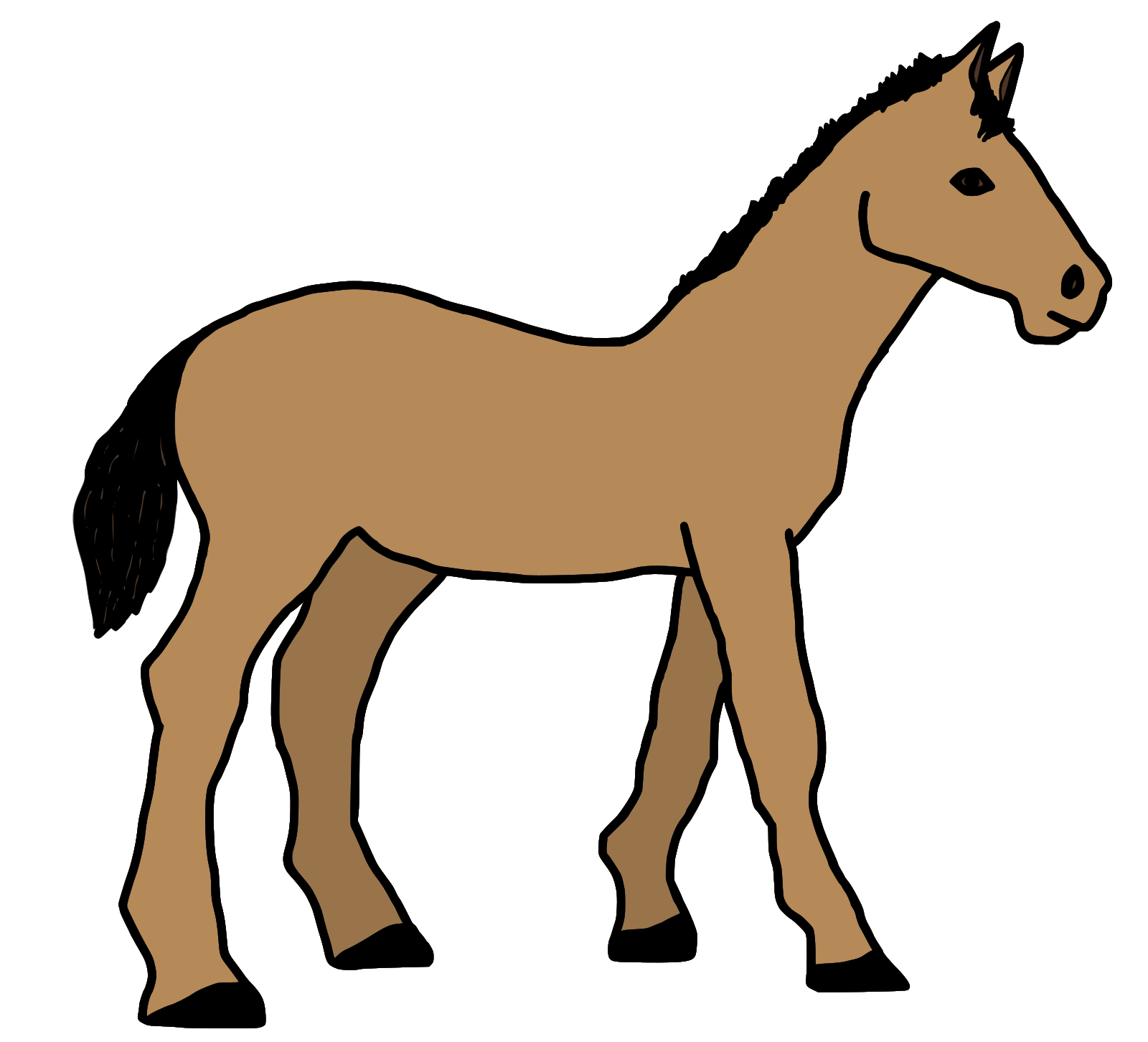 Pony Tail SVG Clip arts