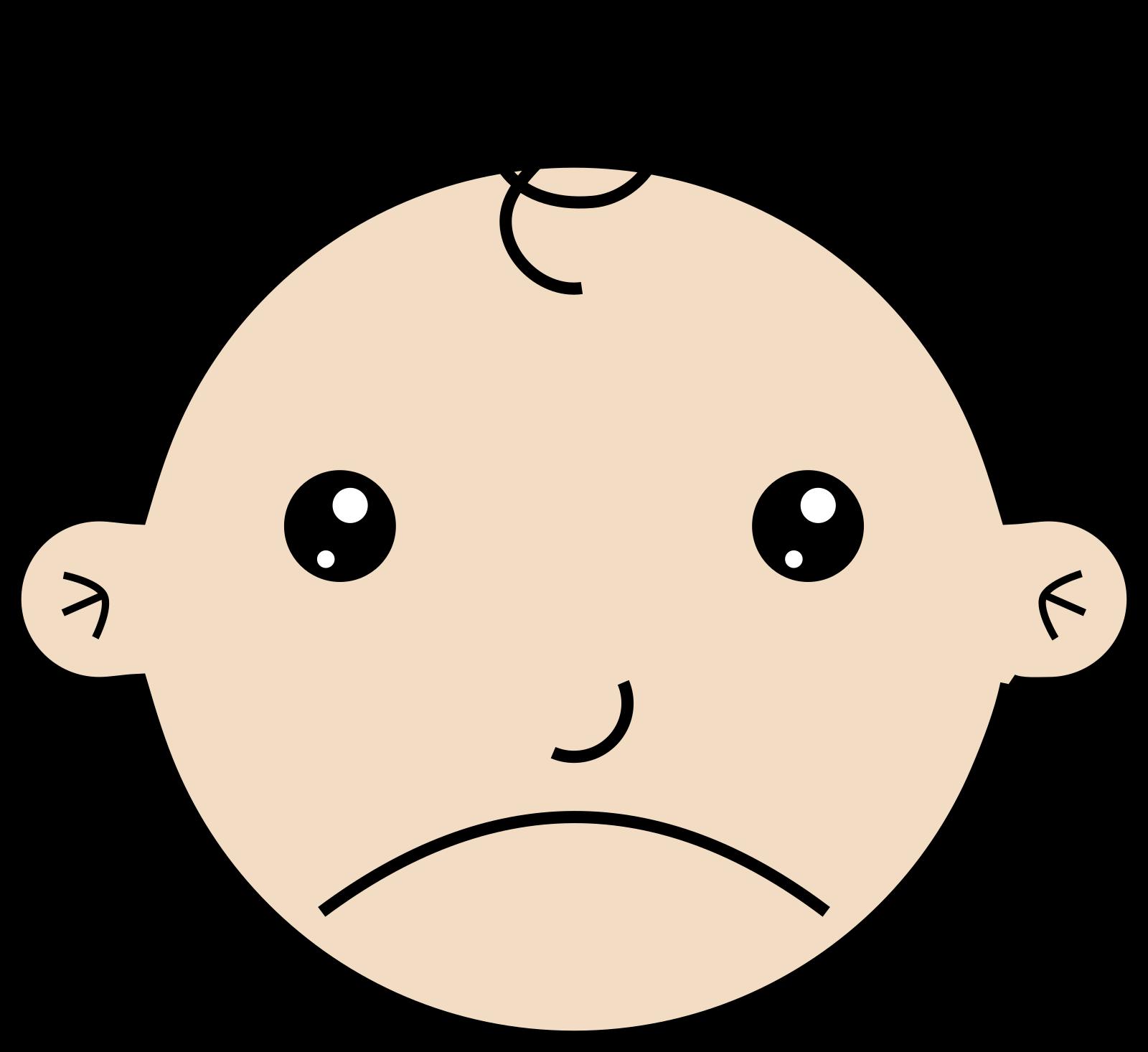 Sad Baby 2 SVG Clip arts