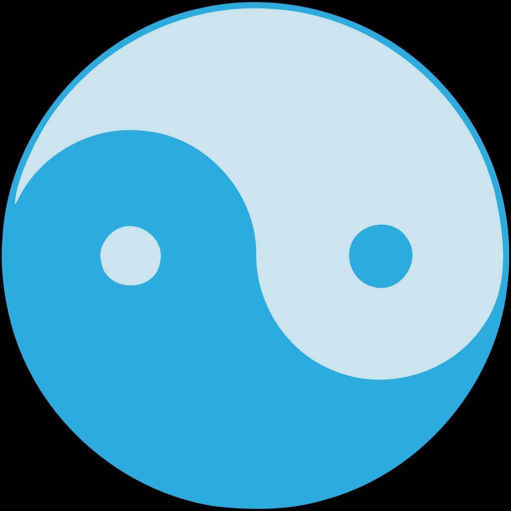 Blue Yin Yang SVG Clip arts