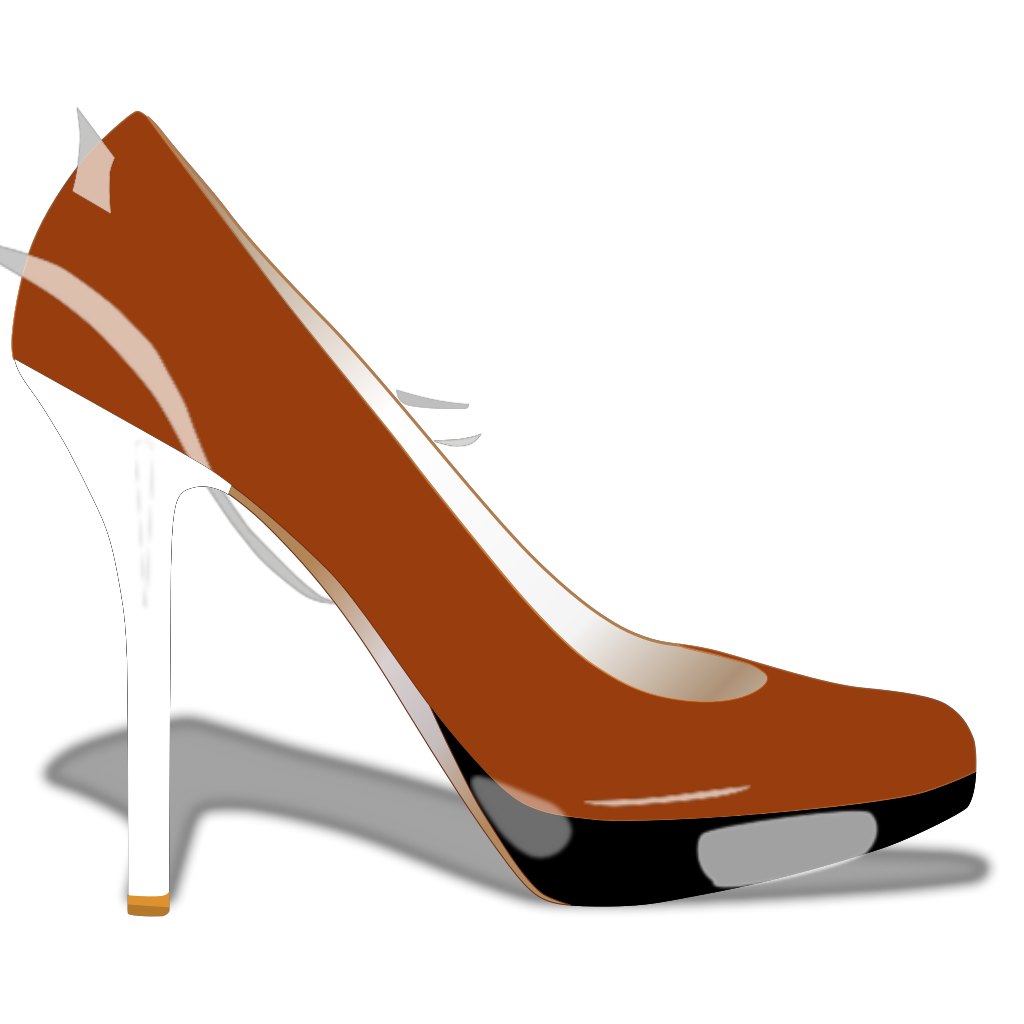 High Heel With Tail SVG Clip arts