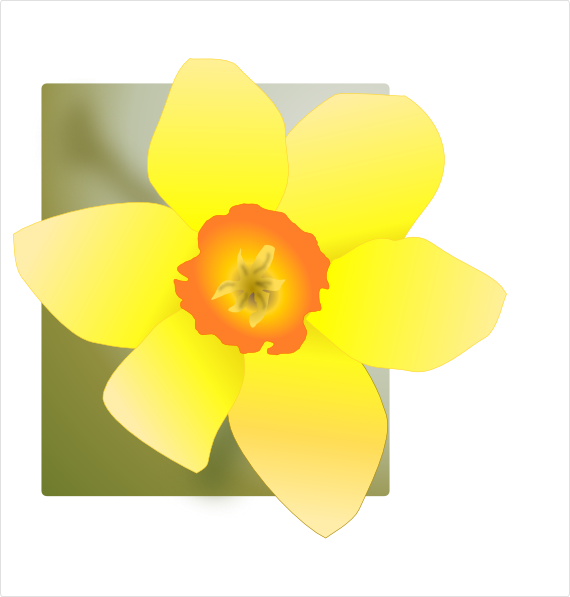 Daffodil 02 SVG Clip arts