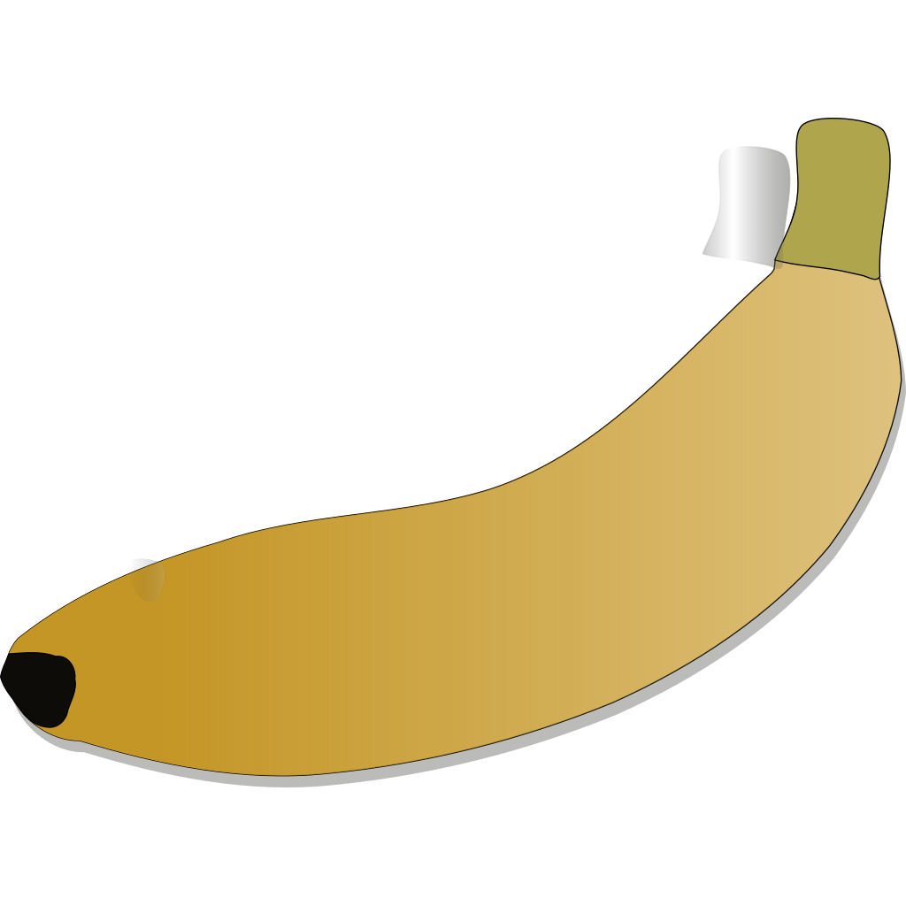 Bread And Banana As Still Life SVG Clip arts