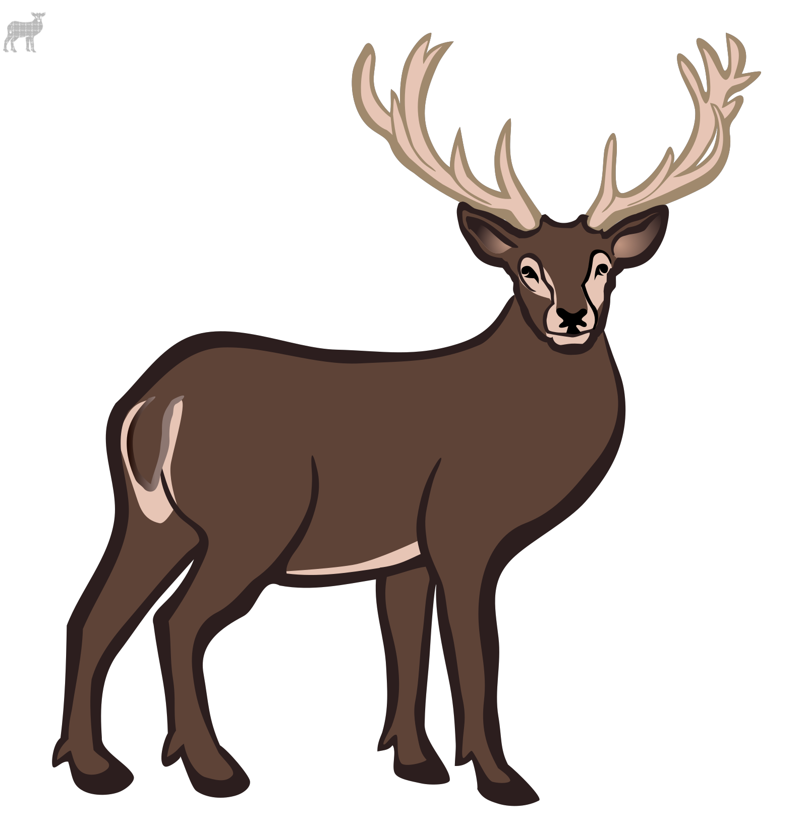 Deer  SVG Clip arts