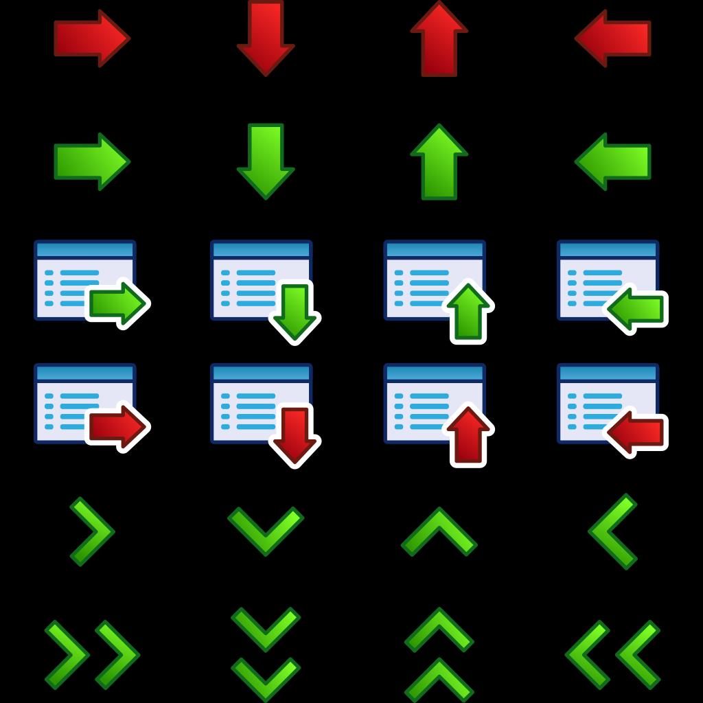 Kuba Arrow Icons Set SVG Clip arts