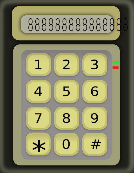 Simple Calculator Without Function Buttons SVG Clip arts
