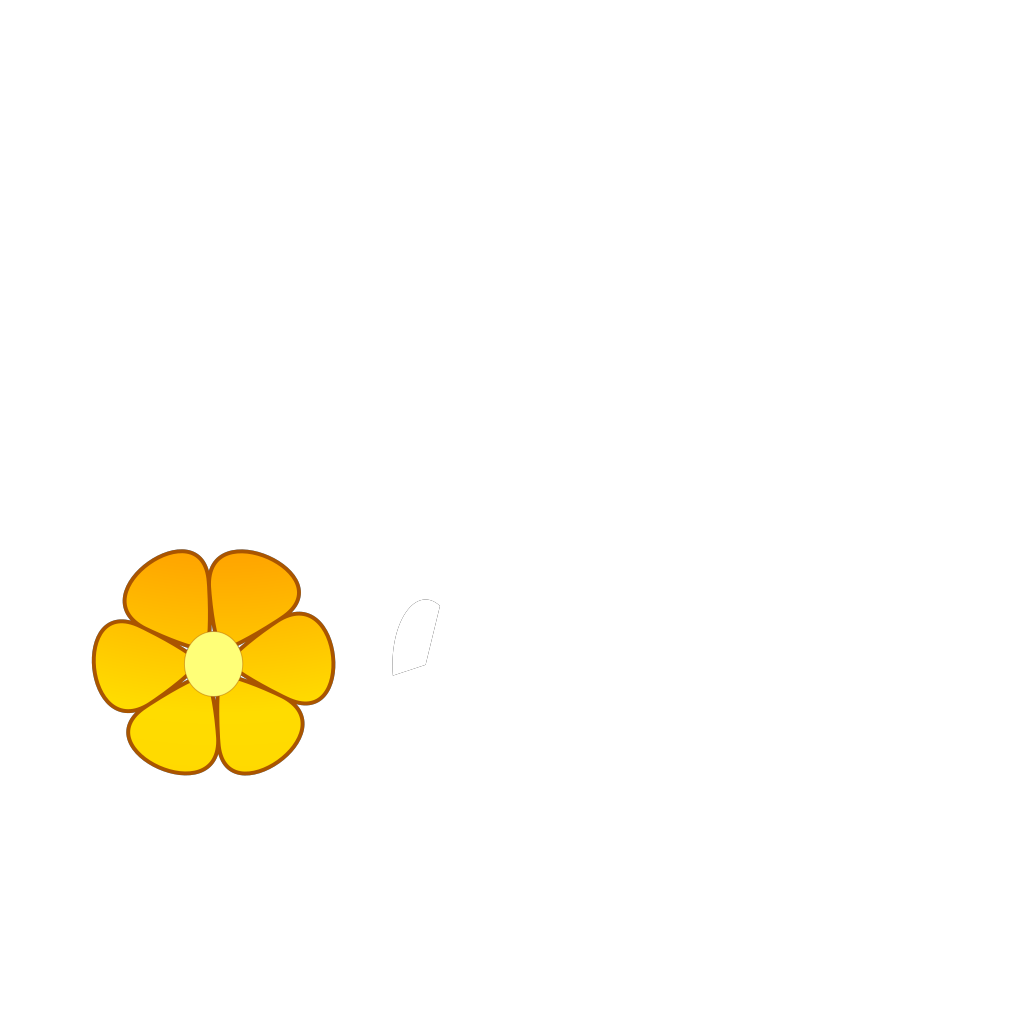 Orange Flower SVG Clip arts