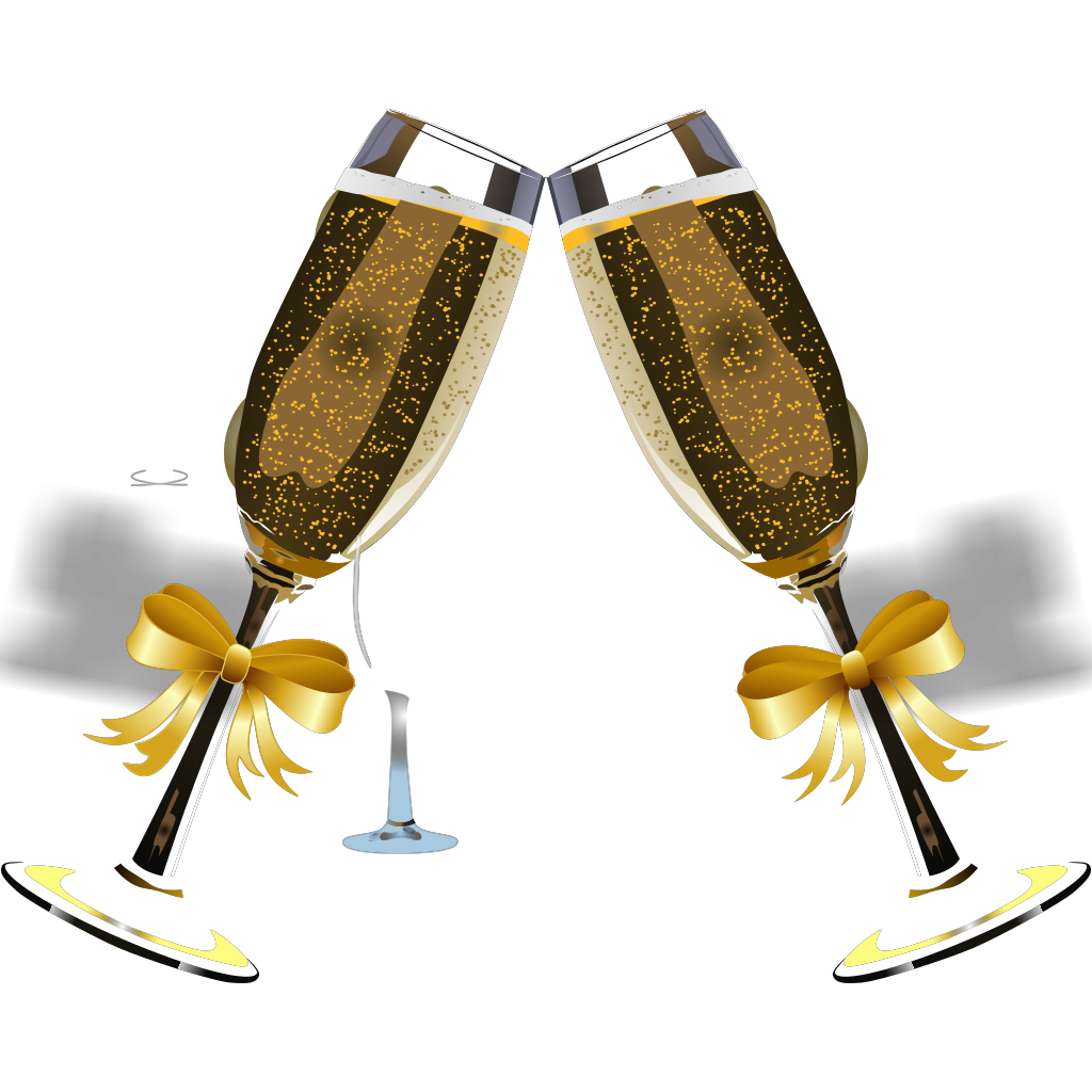 Champagne No Back SVG Clip arts