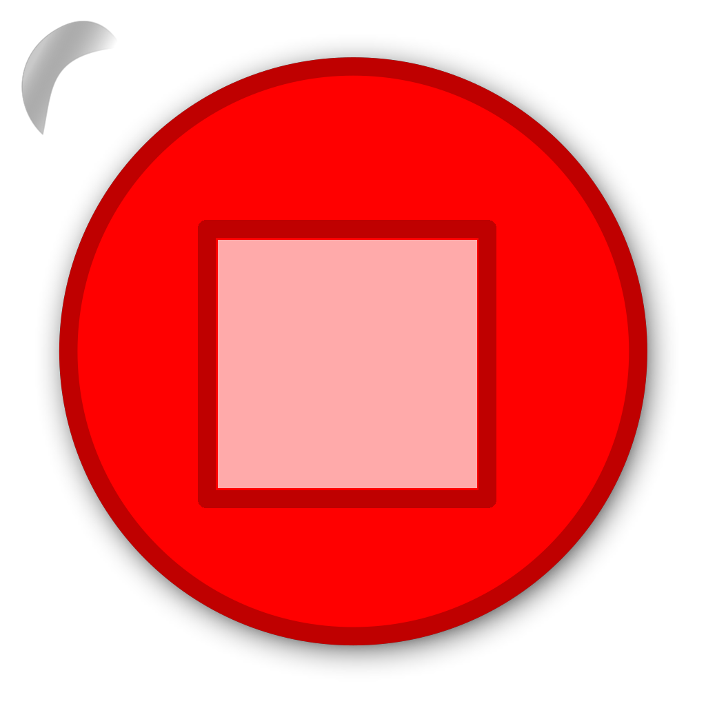 Stop Button Red SVG Clip arts