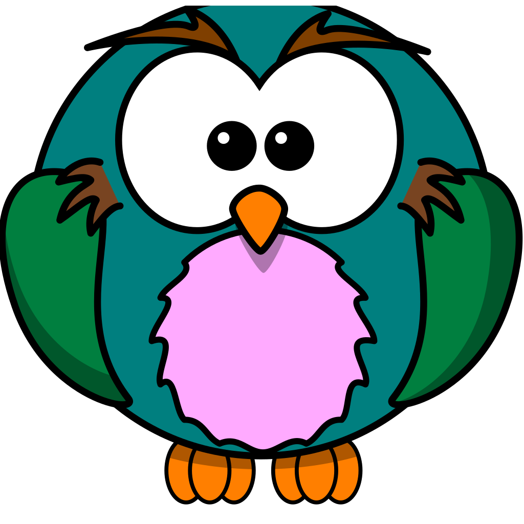 Cute Owl Cartoon SVG Clip arts