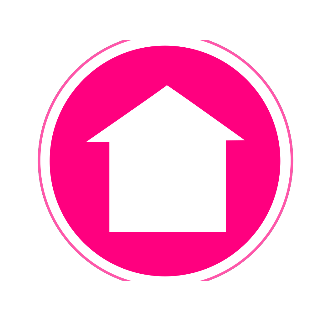 Hot Pink Home Icon SVG Clip arts