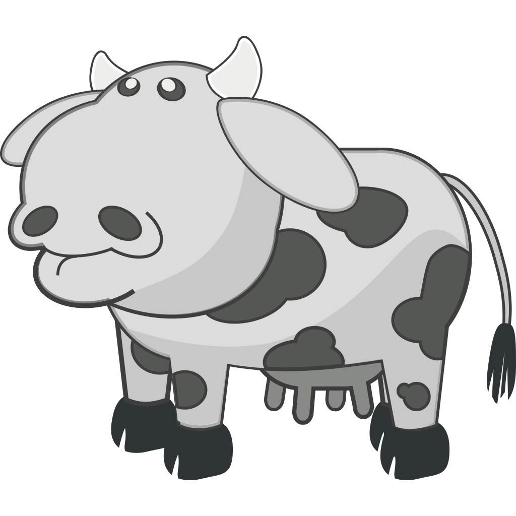 Cow Animal Cartoon SVG Clip arts