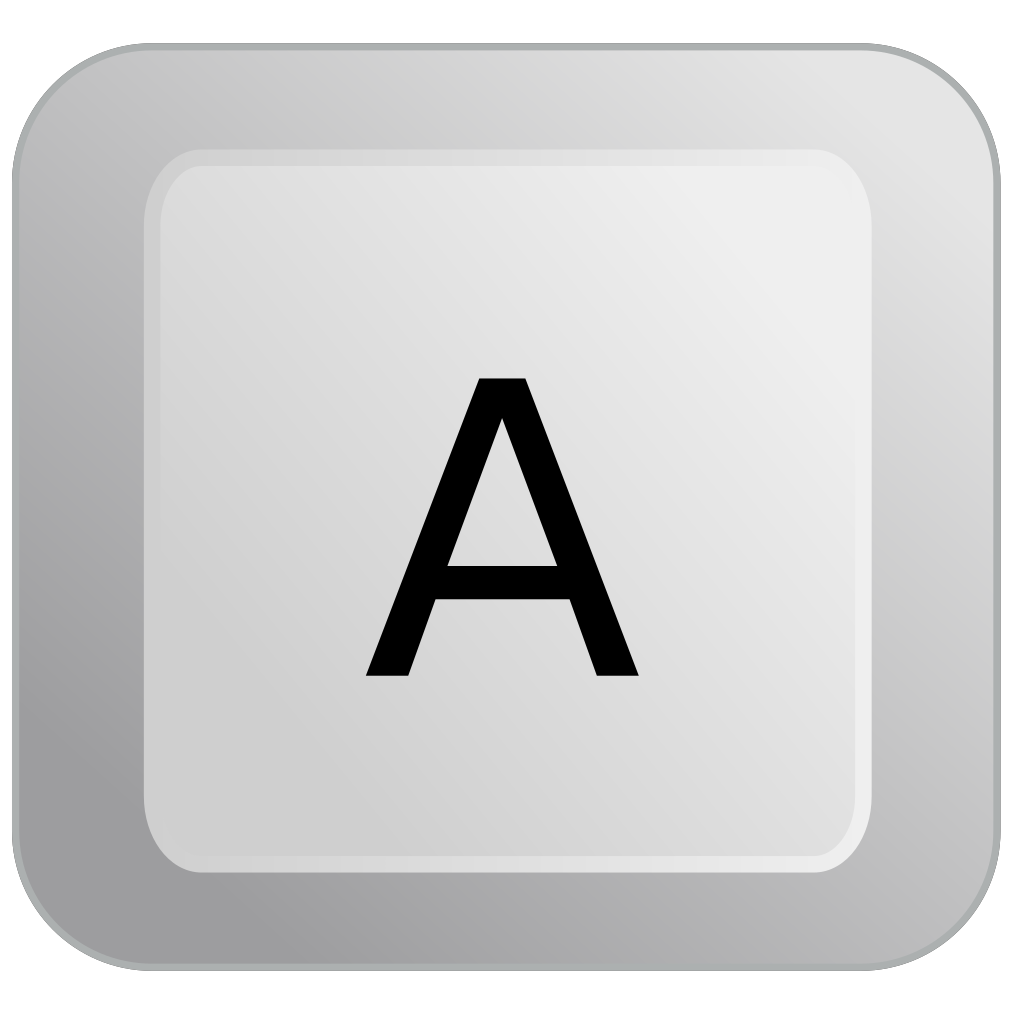 A Keyboard Button SVG Clip arts