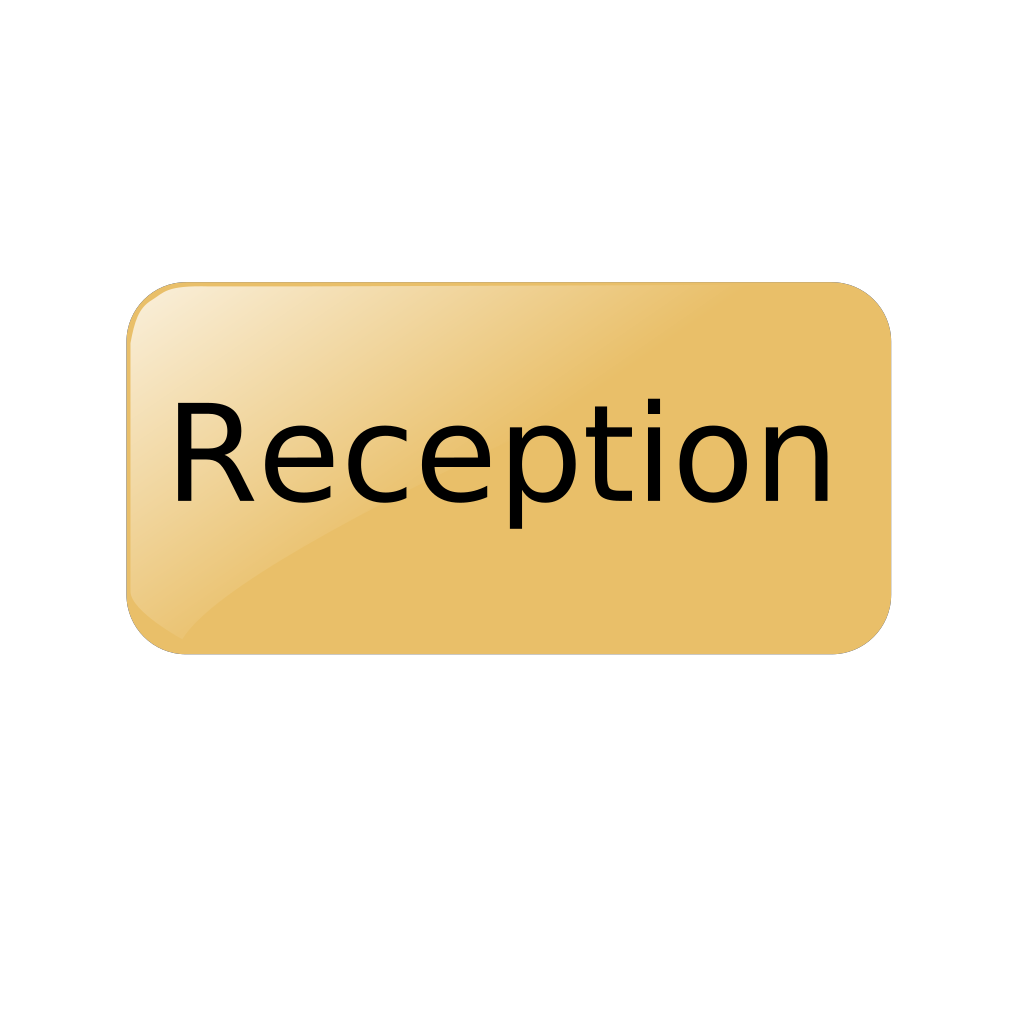 Reception Gold Button SVG Clip arts