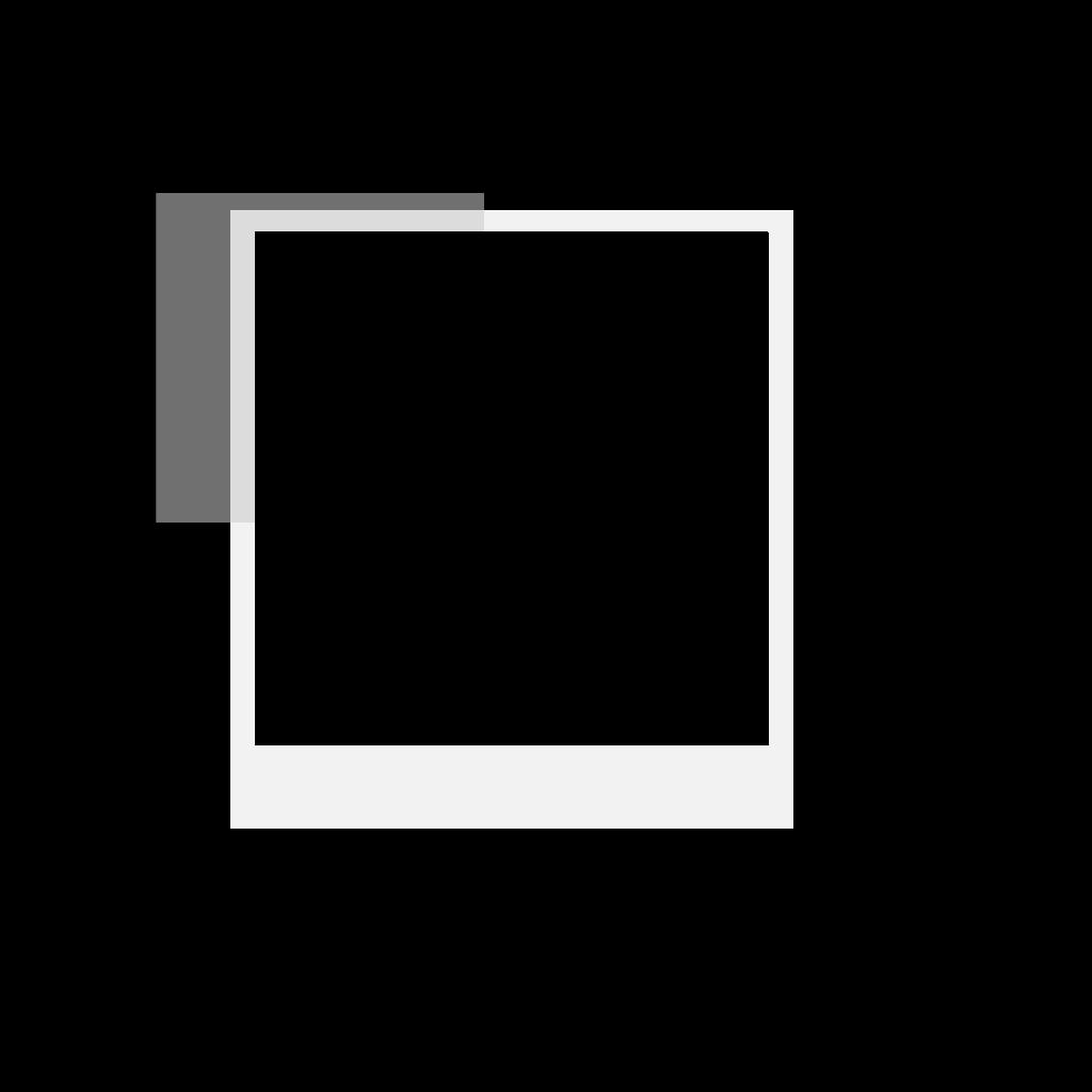 Polaroid Photo Frame SVG Clip arts