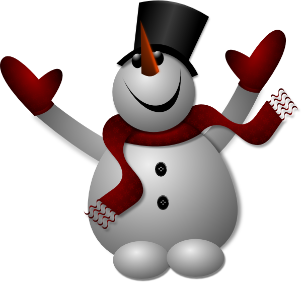 Happy Snowman SVG Clip arts