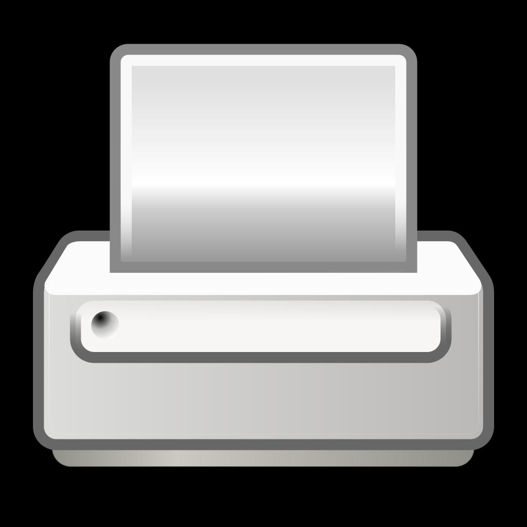 Printer Button SVG Clip arts
