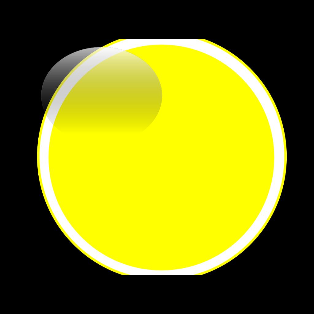 Glossy Yellow Icon Button SVG Clip arts