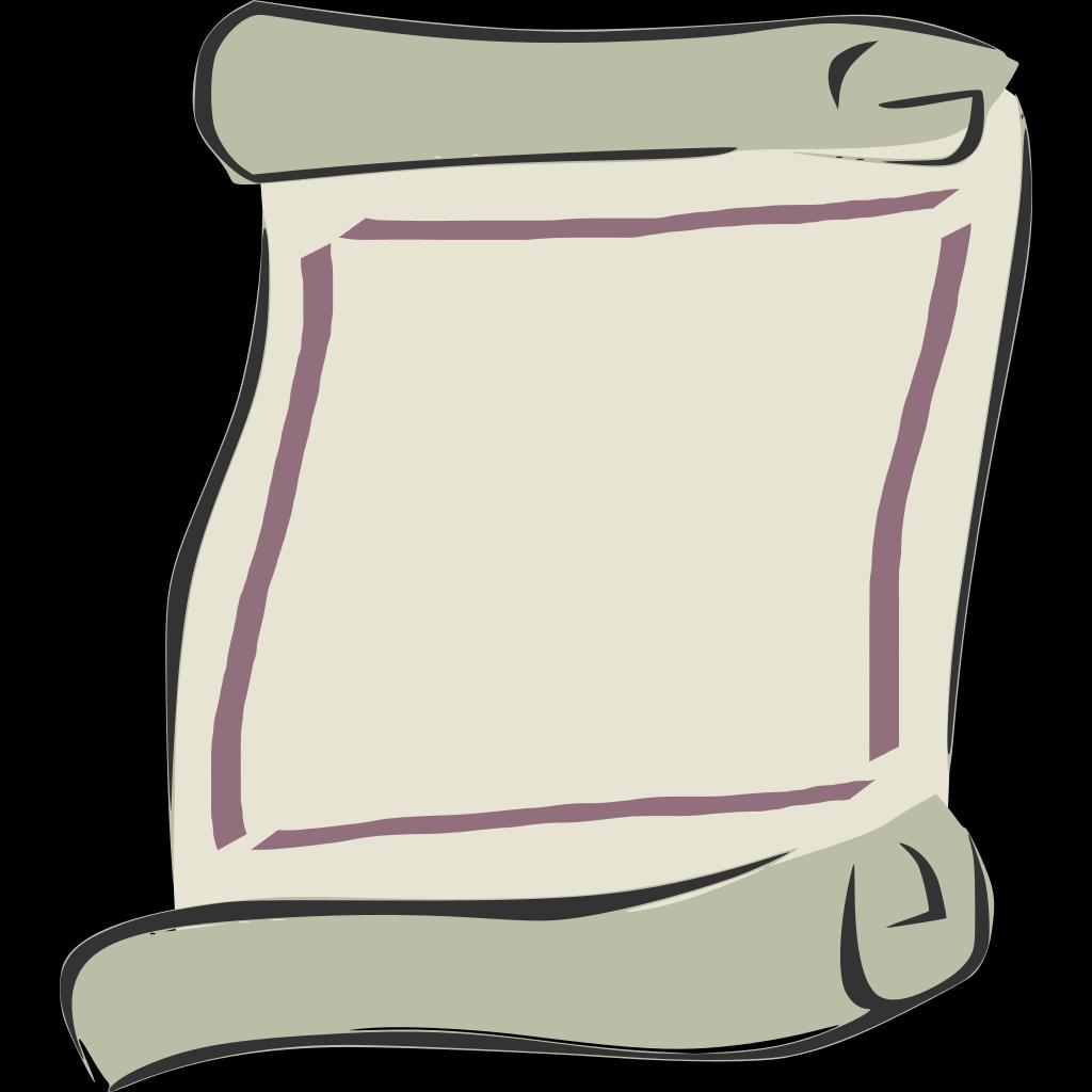 Scroll Outline SVG Clip arts