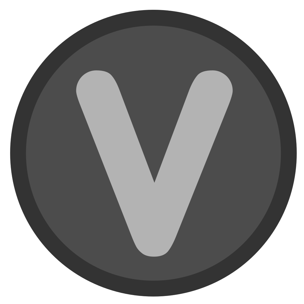 V Button SVG Clip arts
