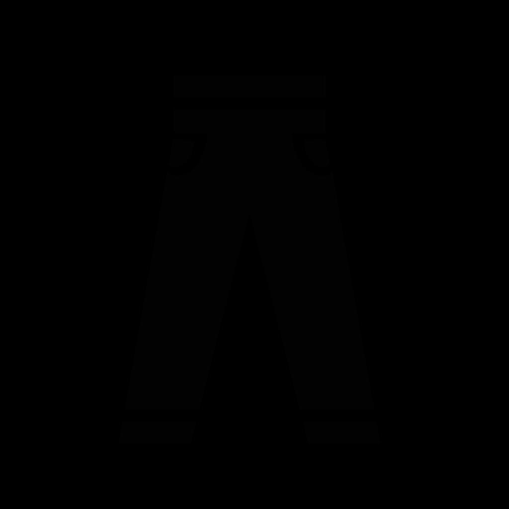 Trousers Icon SVG Clip arts