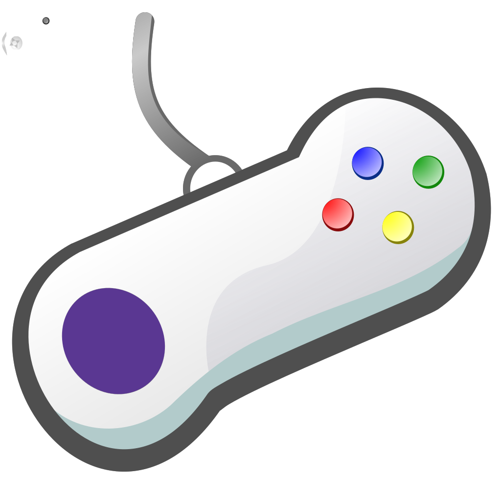 Gamepad White SVG Clip arts