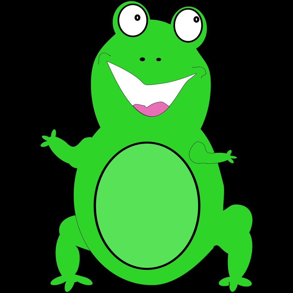Happy Frog SVG Clip arts