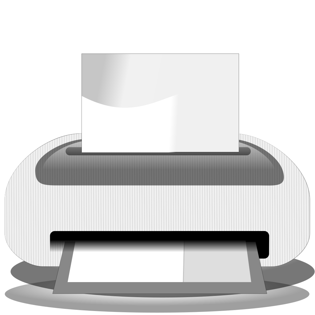 Etiquette Printer SVG Clip arts