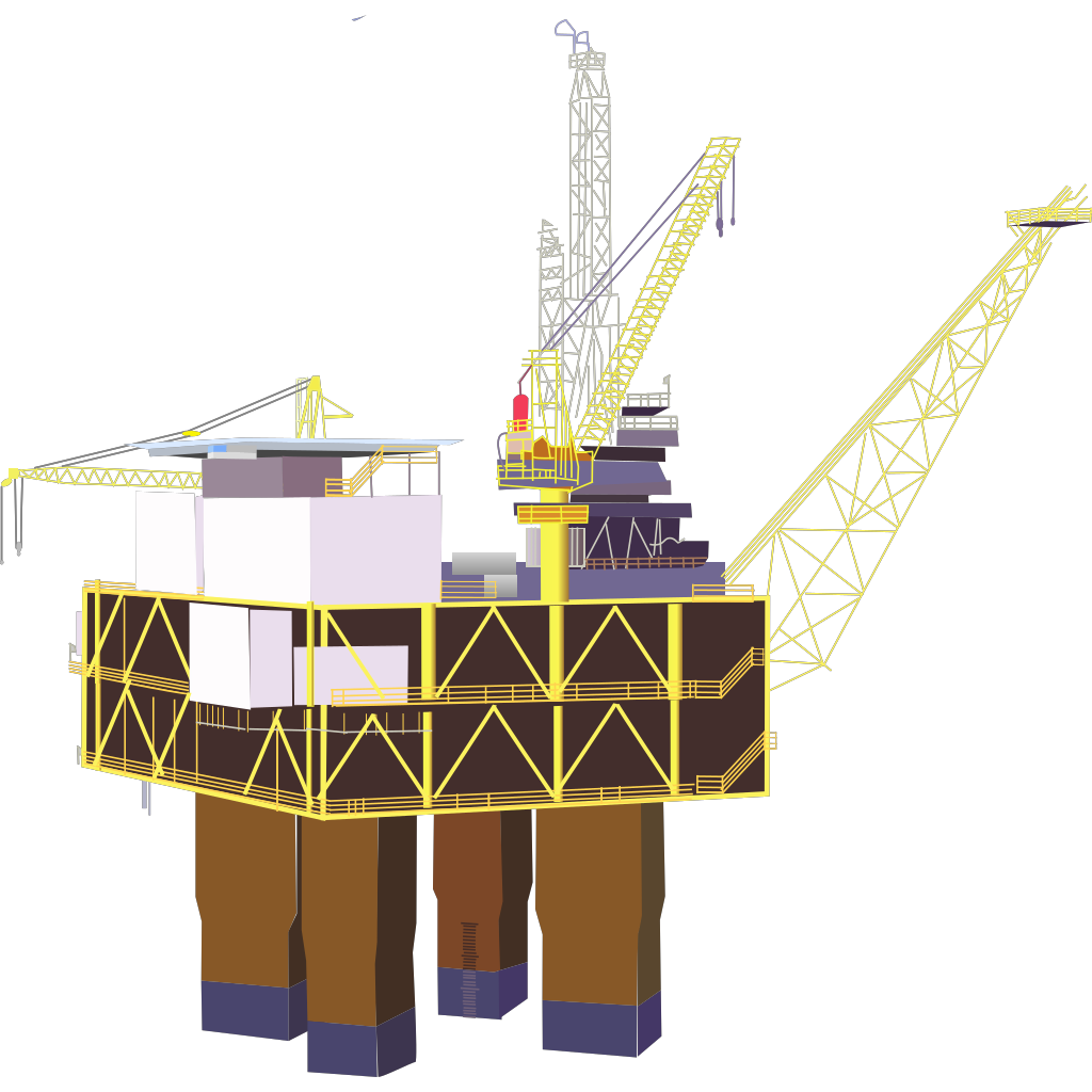 Oil Rig SVG Clip arts