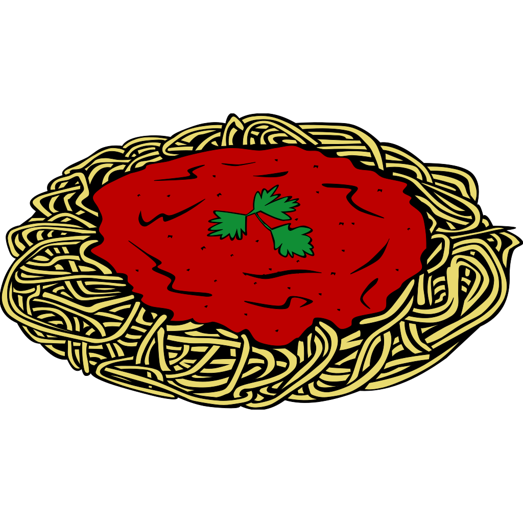 Spaghetti And Sauce SVG Clip arts