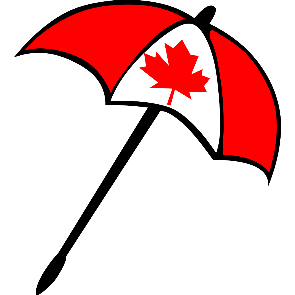 Canada Flag Umbrella SVG Clip arts